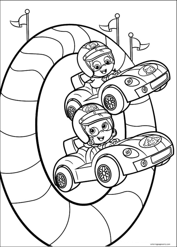 Bubble Guppies 5 Coloring Page