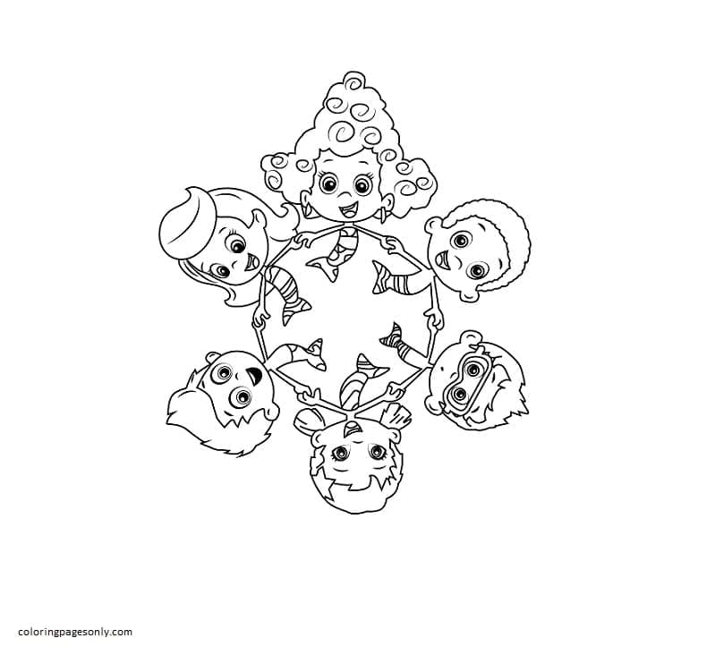 Bubble Guppies 6 Coloring Page