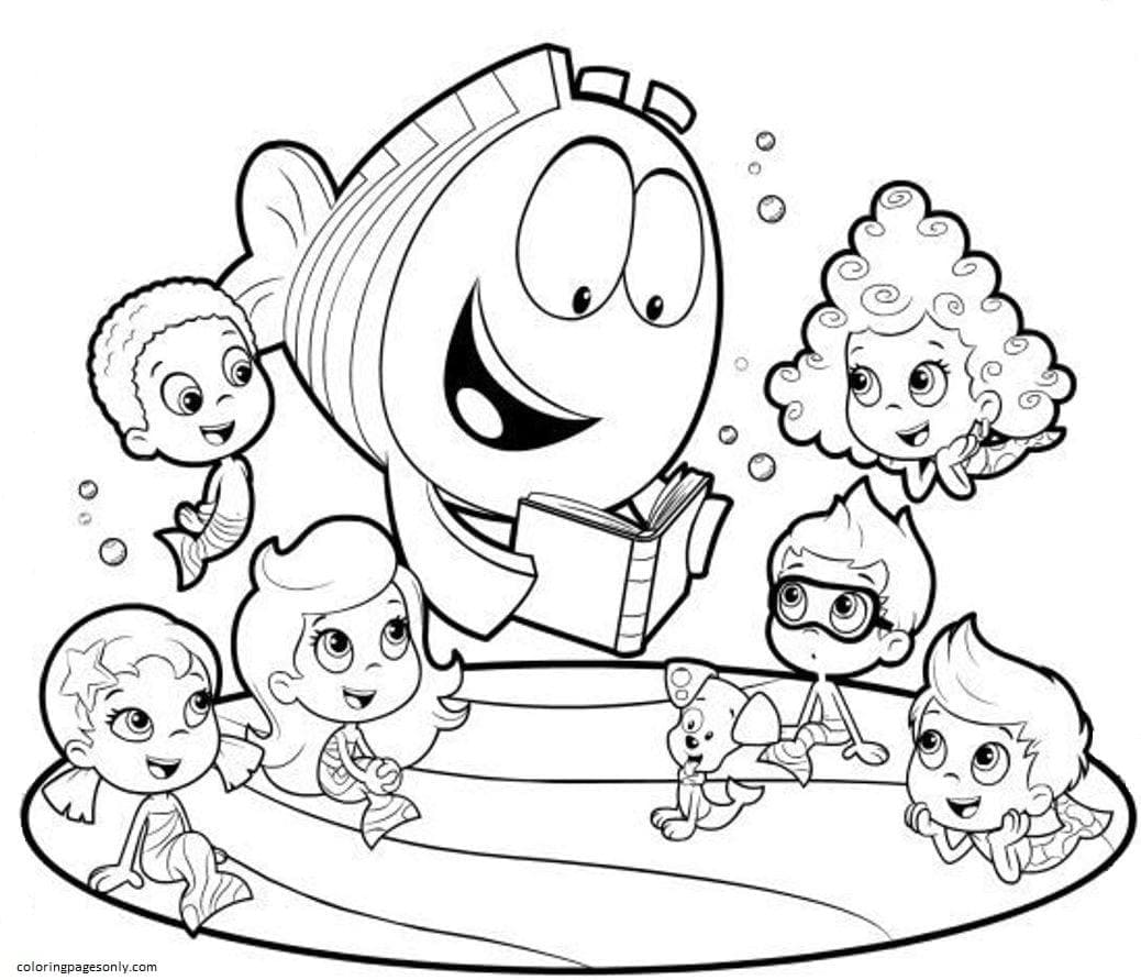 Bubble Guppies 7 Coloring Page