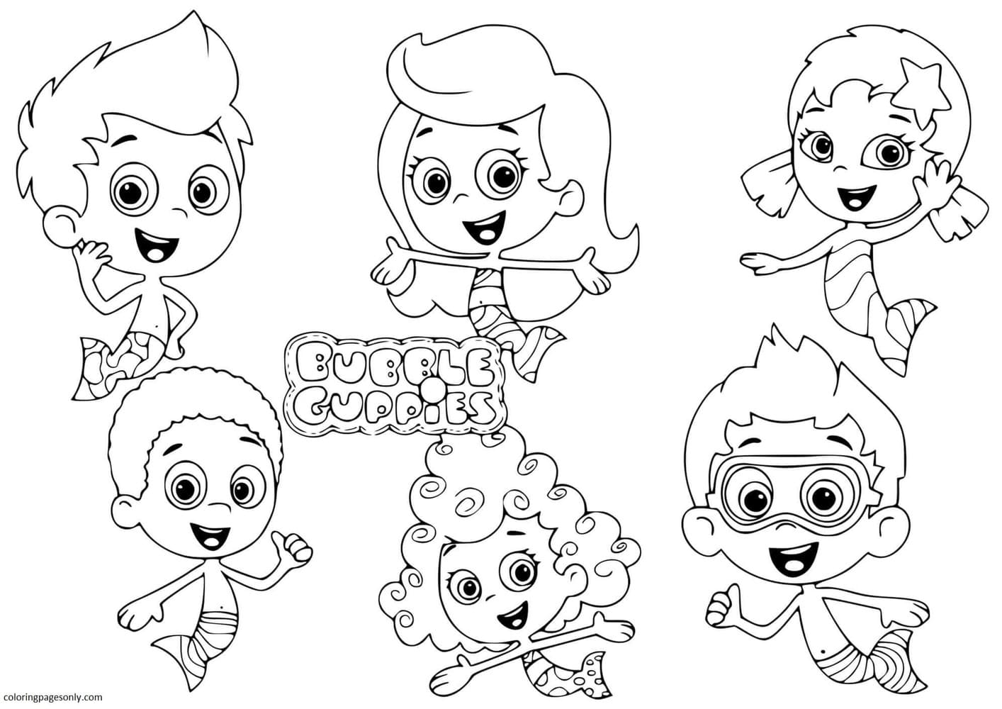 Bubble Guppies 8 Coloring Page