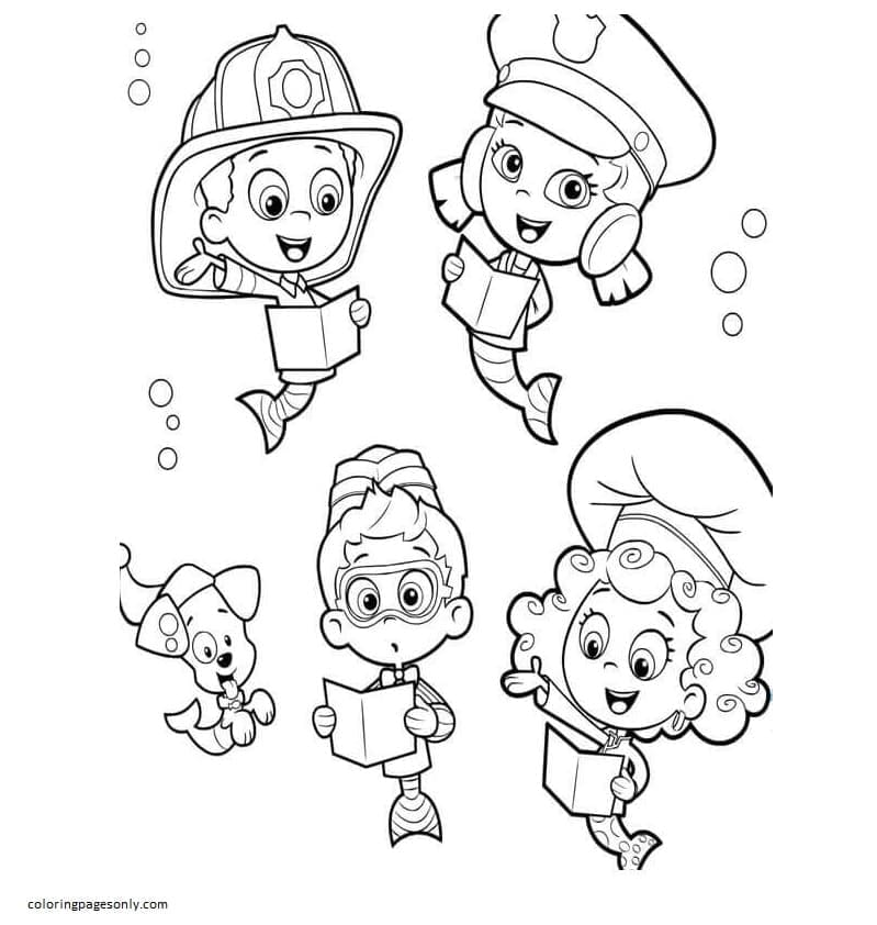 Bubble Guppies 9 Coloring Page