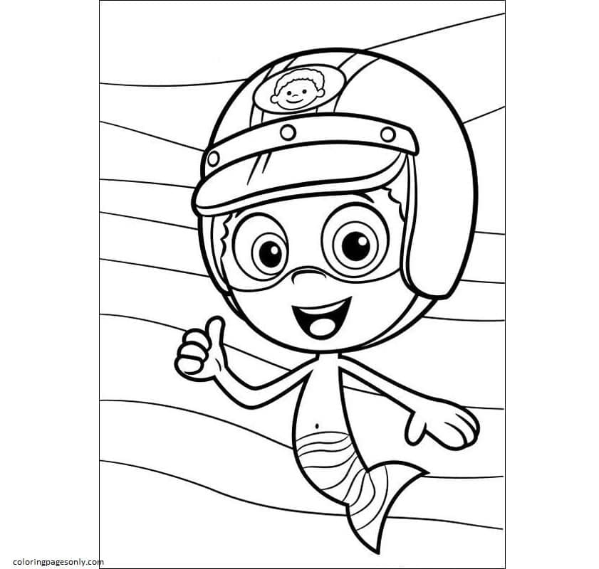 Bubble Guppies Goby 1 Coloring Page