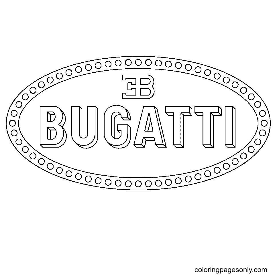 Bugatti Logo Coloring Page