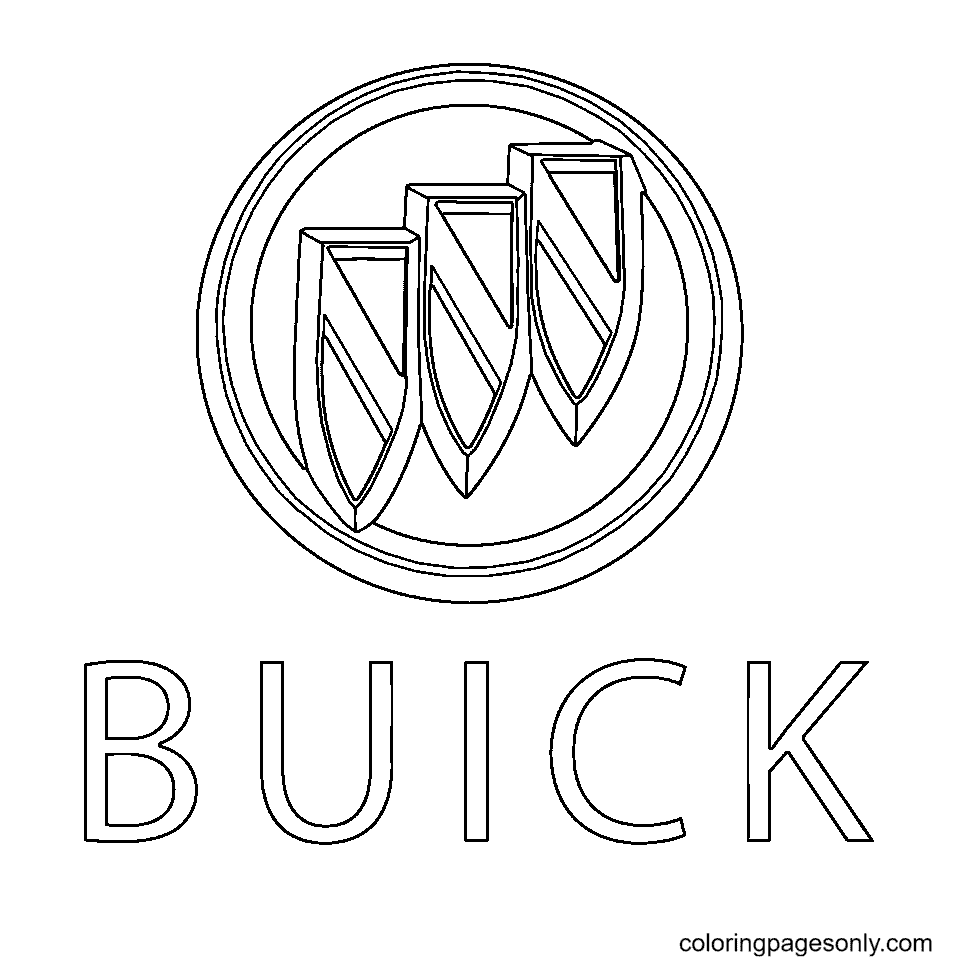 Buick Logo Coloring Page