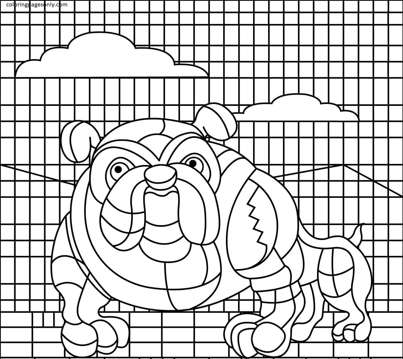 Bulldog Coloring Page