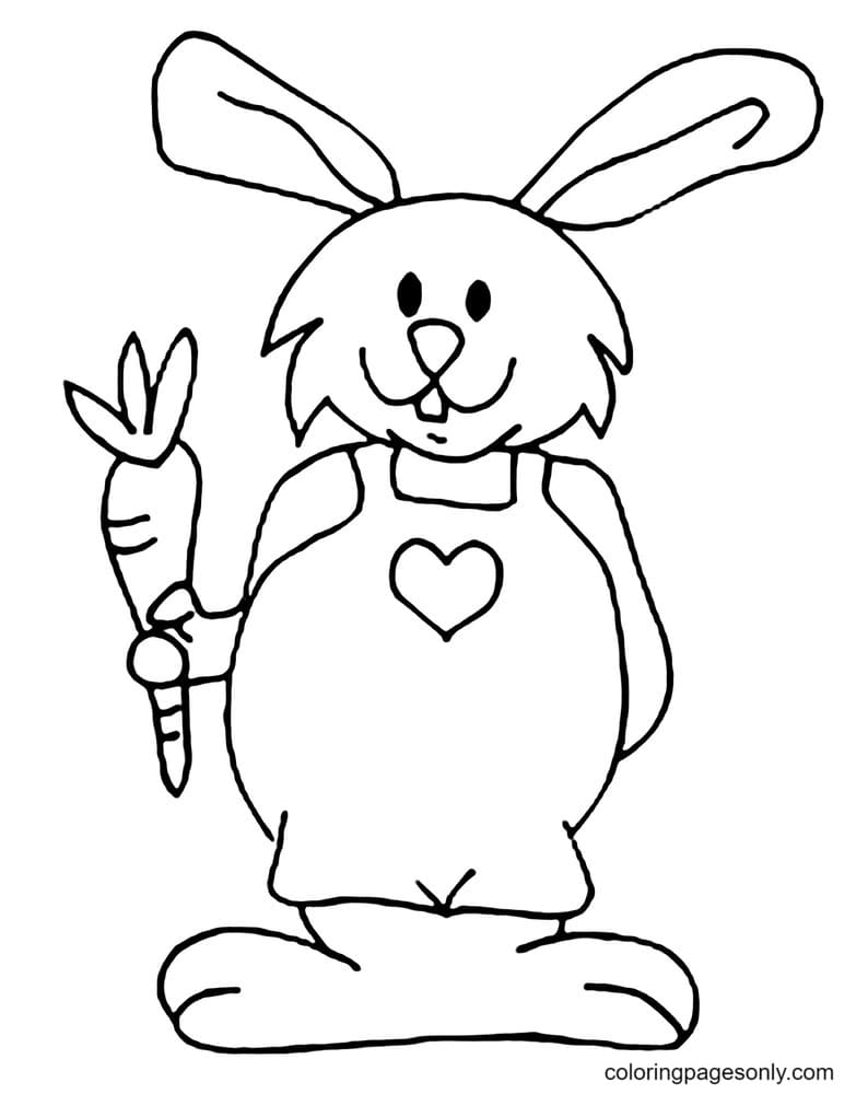 Bunnies Cute Coloring Page