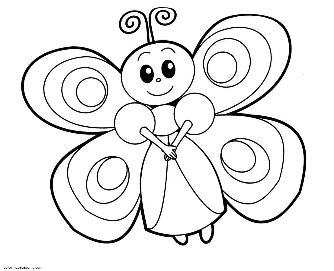 Butterfly 11 Coloring Page