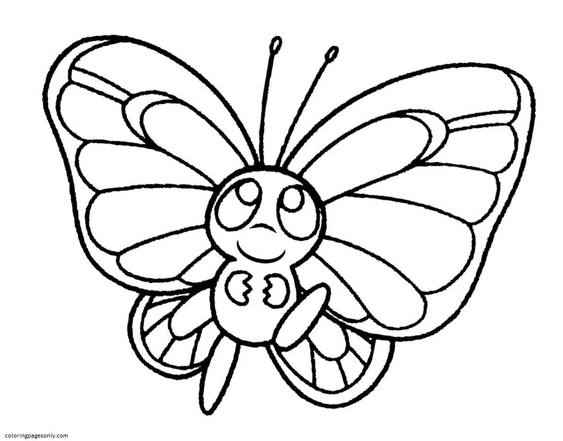 Butterfly 12 Coloring Page