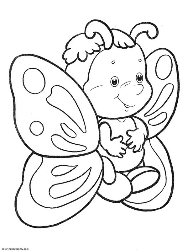 Butterfly 17 Coloring Page