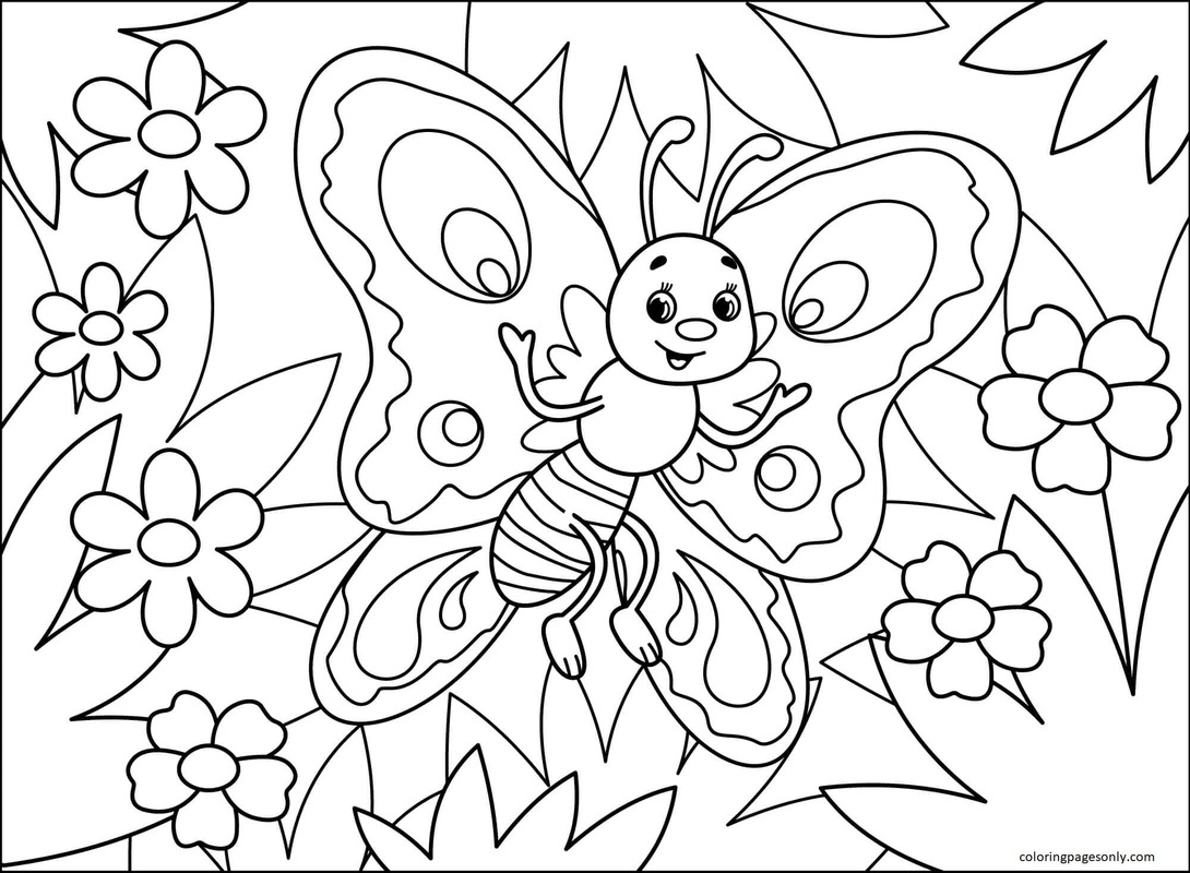 Butterfly 2 Coloring Page