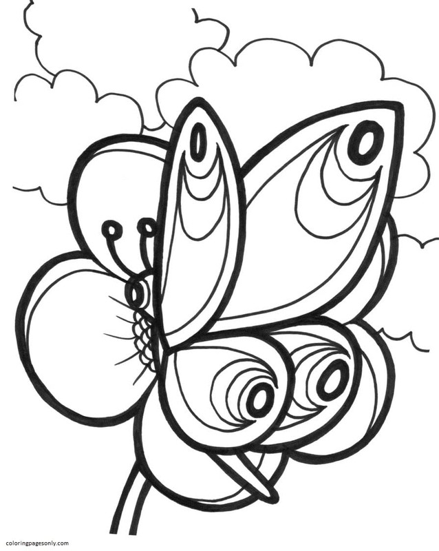 Butterfly 26 Coloring Page