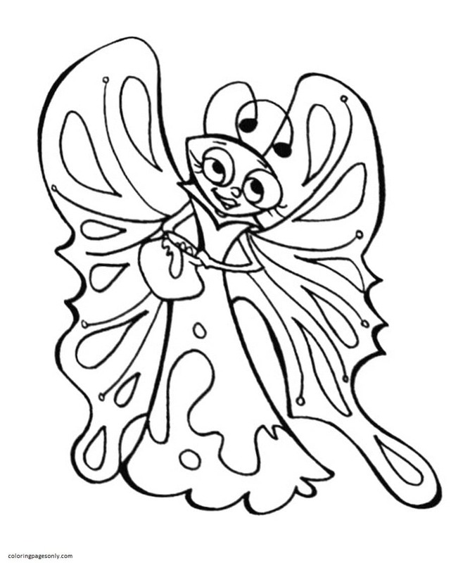 Butterfly 7 Coloring Page