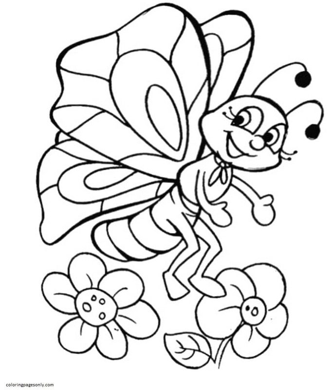 Butterfly 8 Coloring Page