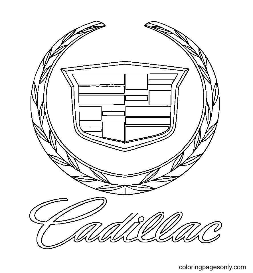 Cadillac Logo Coloring Page
