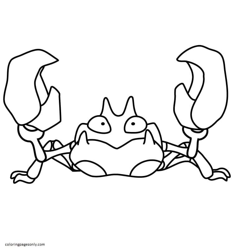 Cartoon Crab 5 Coloring Page