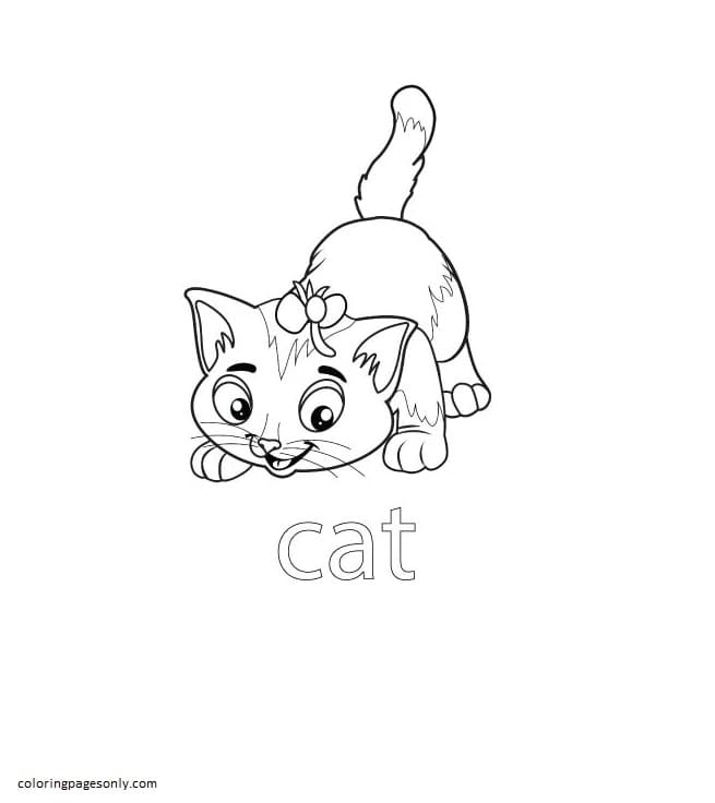 Cat Farm Coloring Page