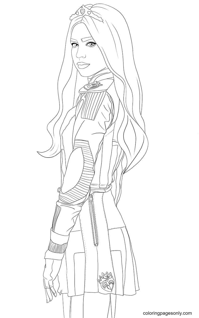 Character Evie from Descendents Coloring Page