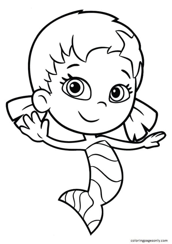 Character Little Girl Oona Coloring Page