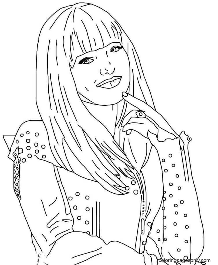 Character Mal from Descendents Coloring Page
