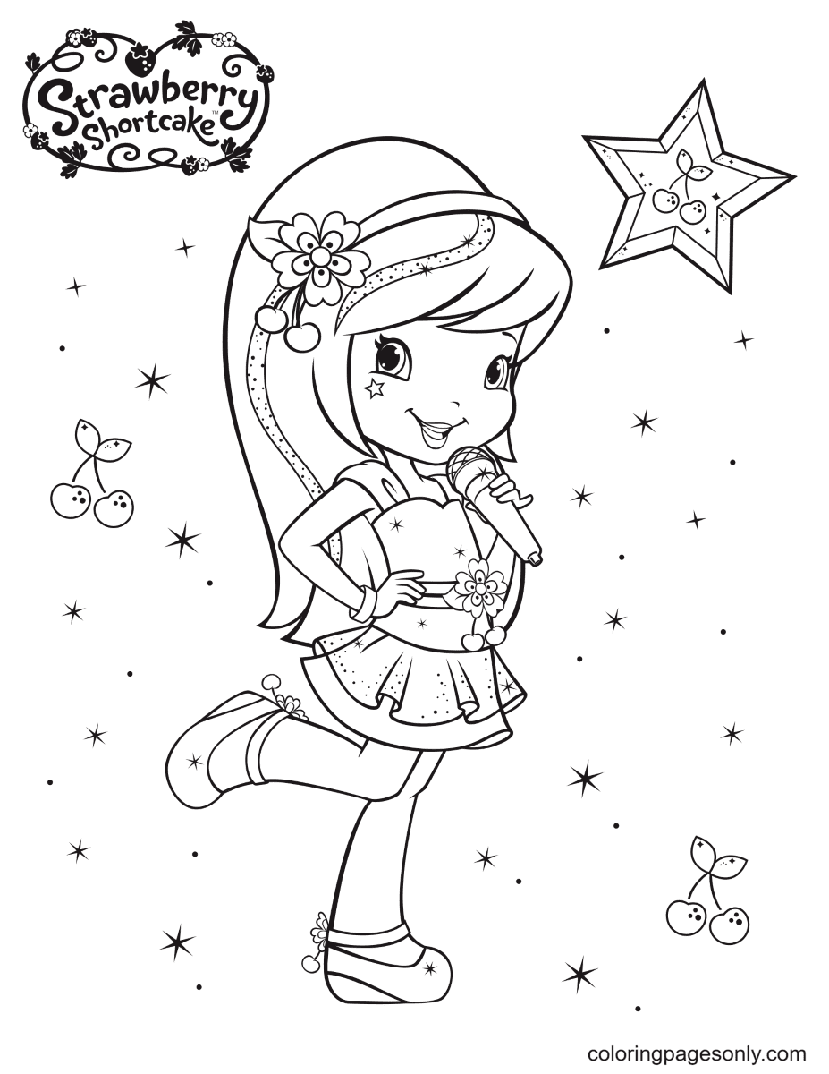 Cherry Jam Beutiful Coloring Page