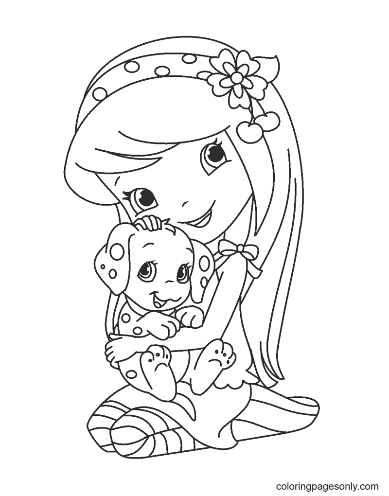 Cherry Jam Strawberry Shortcake Coloring Page