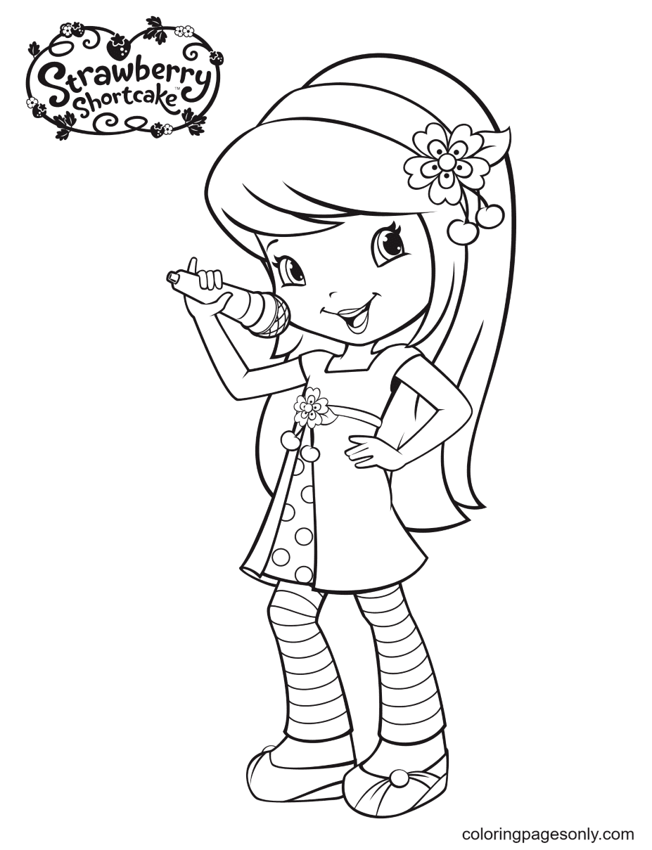 Cherry Jam sings Coloring Page