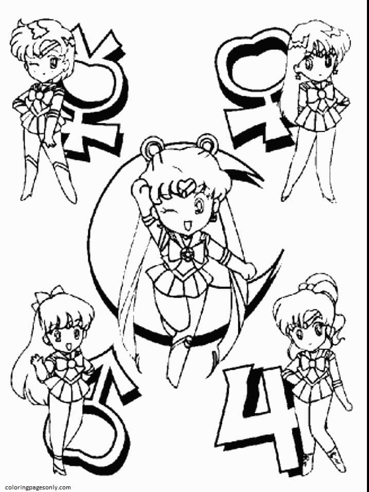 Chibi Sailor Moon 1 Coloring Page