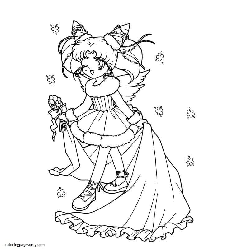 Chibi Sailor Moon 2 Coloring Page