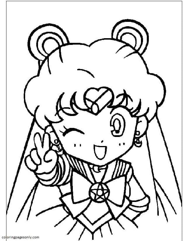 Chibi Sailor Moon Coloring Page