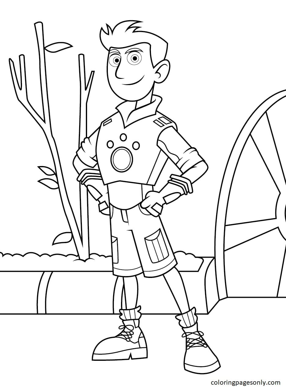 Chris Kratts From Wild Kratts Coloring Page