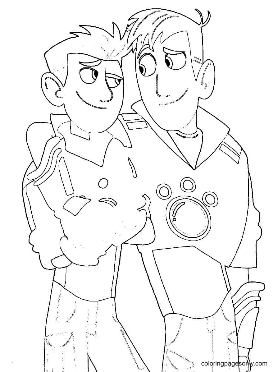 Chris Kratts and Martin Kratts Coloring Page