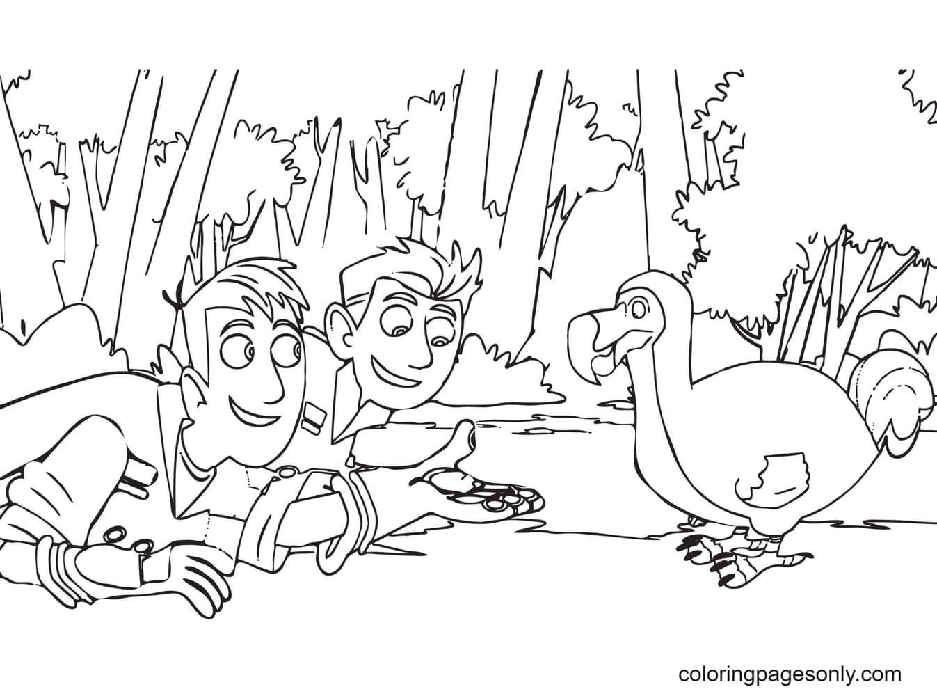 Chris and Martin Coloring Page