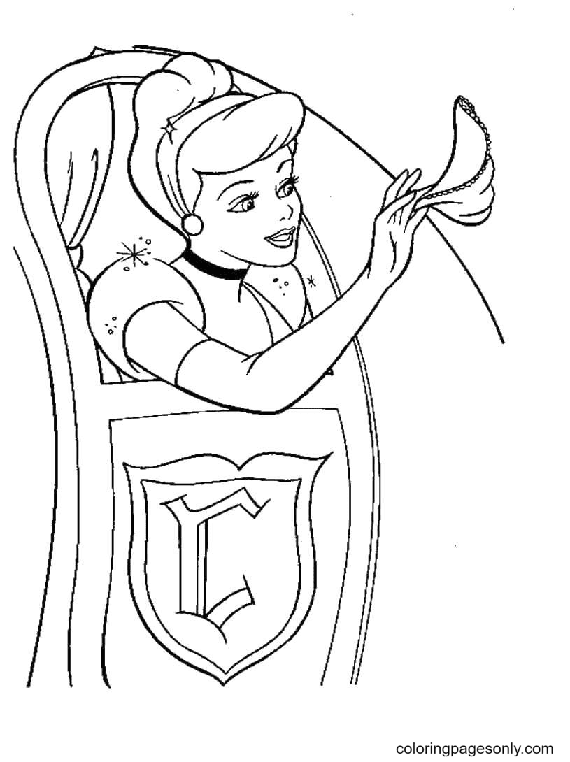 Cinderella came to the prom Coloring Page