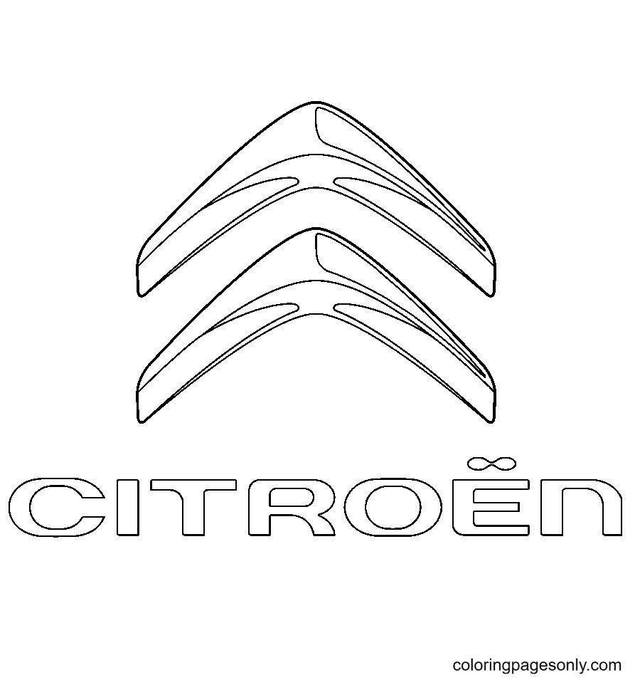 Citroen Logo Coloring Page