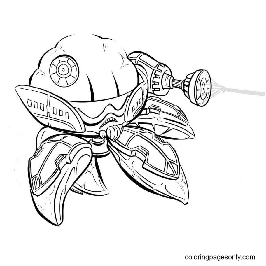 Citron From Plant vs Zombies Coloring Page
