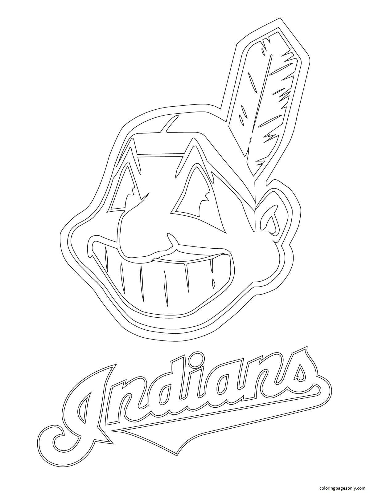 Clevelend Indians Logo Coloring Page
