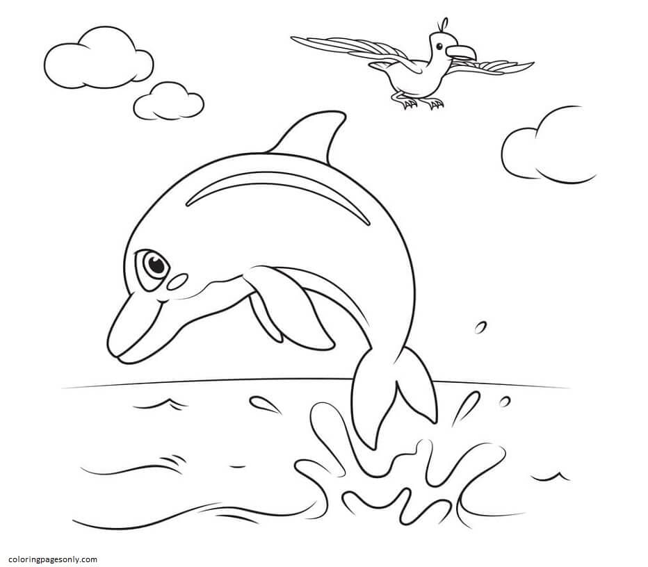 Cocomelon Dolphins Coloring Page