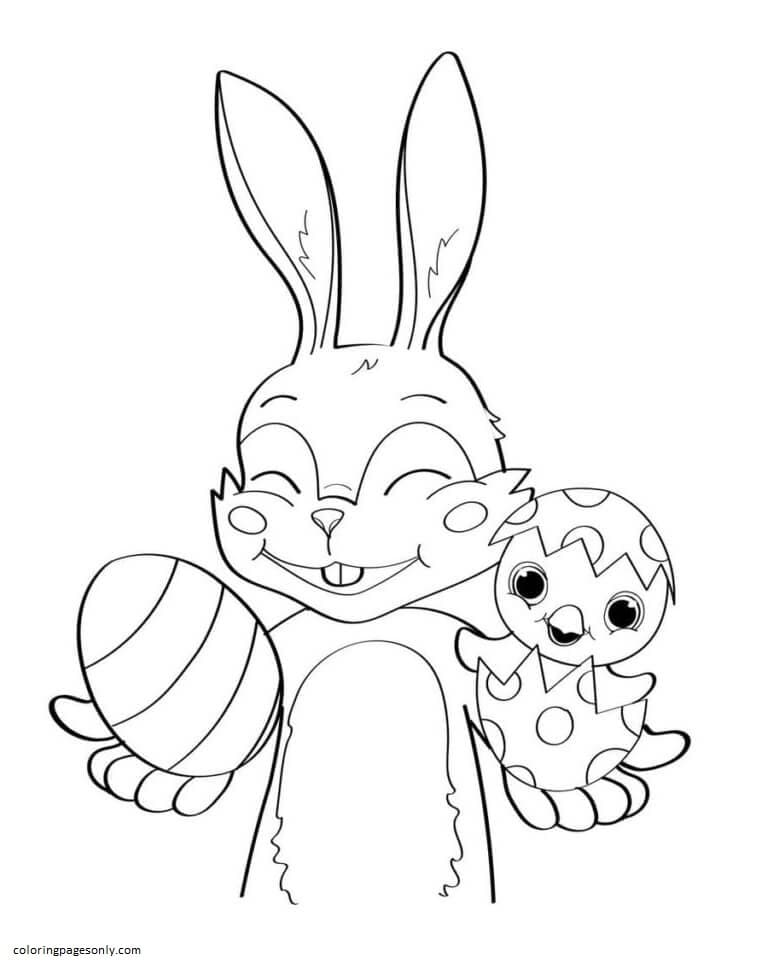 Cocomelon Easter Bunny Coloring Page