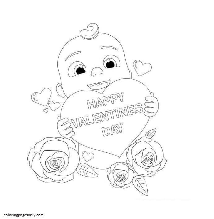 Cocomelon Velentines Day Coloring Pages
