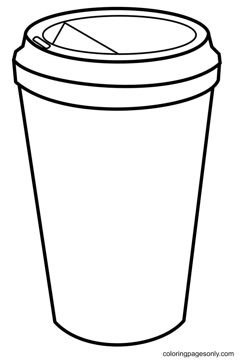 Coffee Cup Hi Starbucks Coloring Page