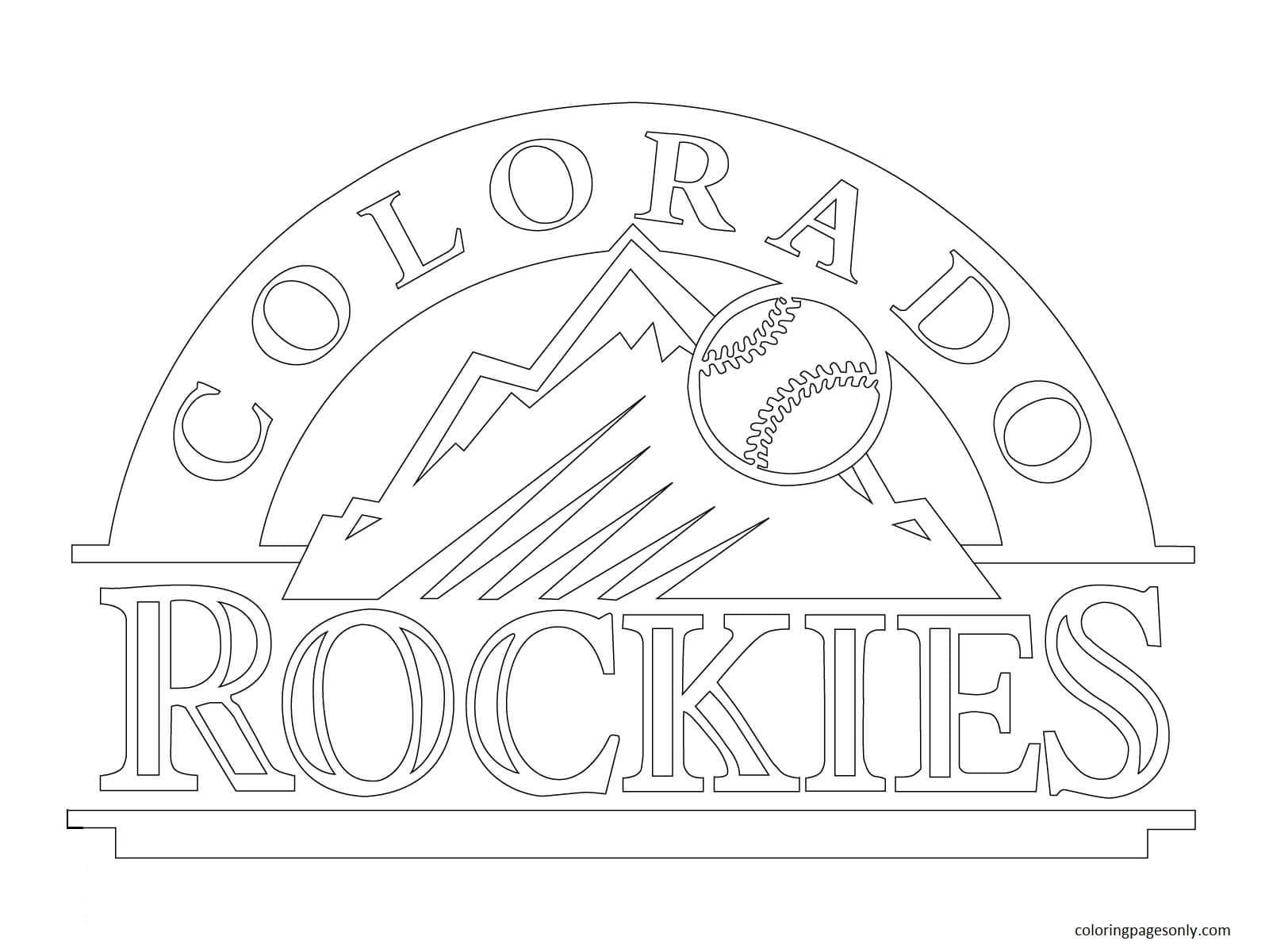 Colorado Rockies Logo Coloring Page