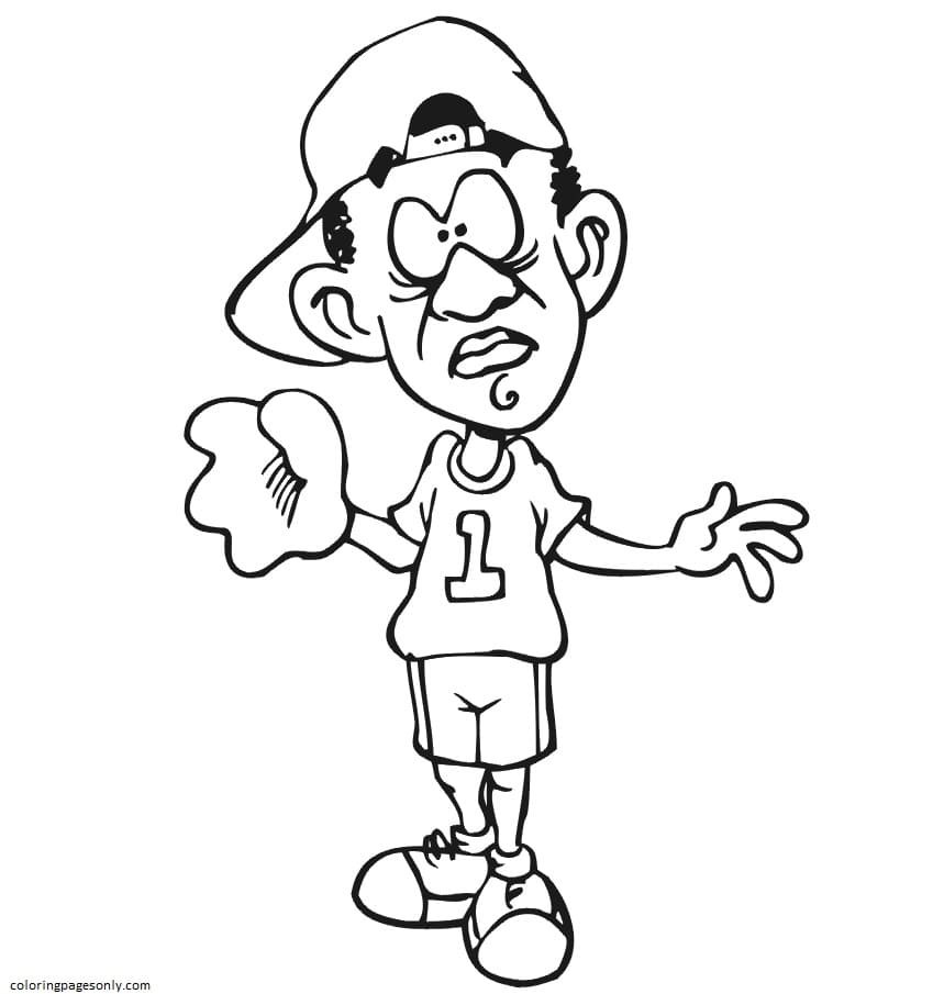 Confused Player Coloring Page
