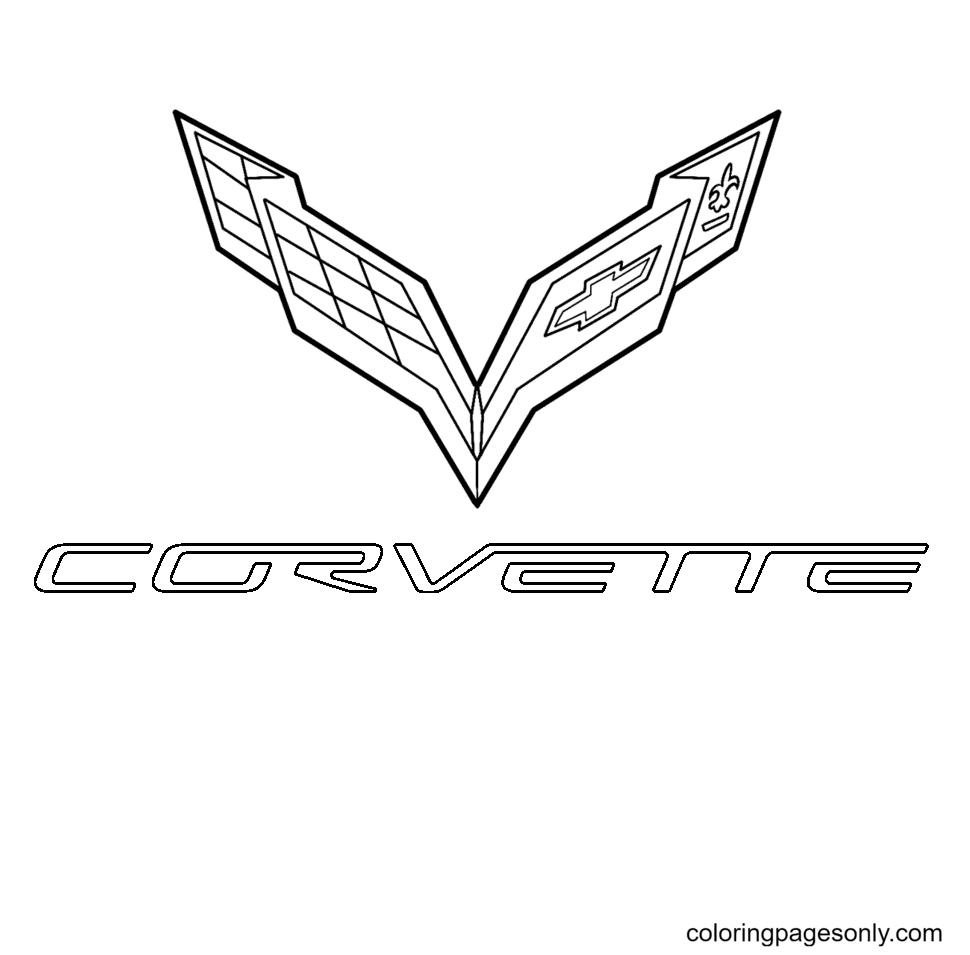 Corvette Logo Coloring Page