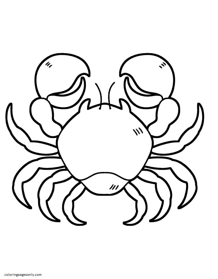 Crab 1 Coloring Page