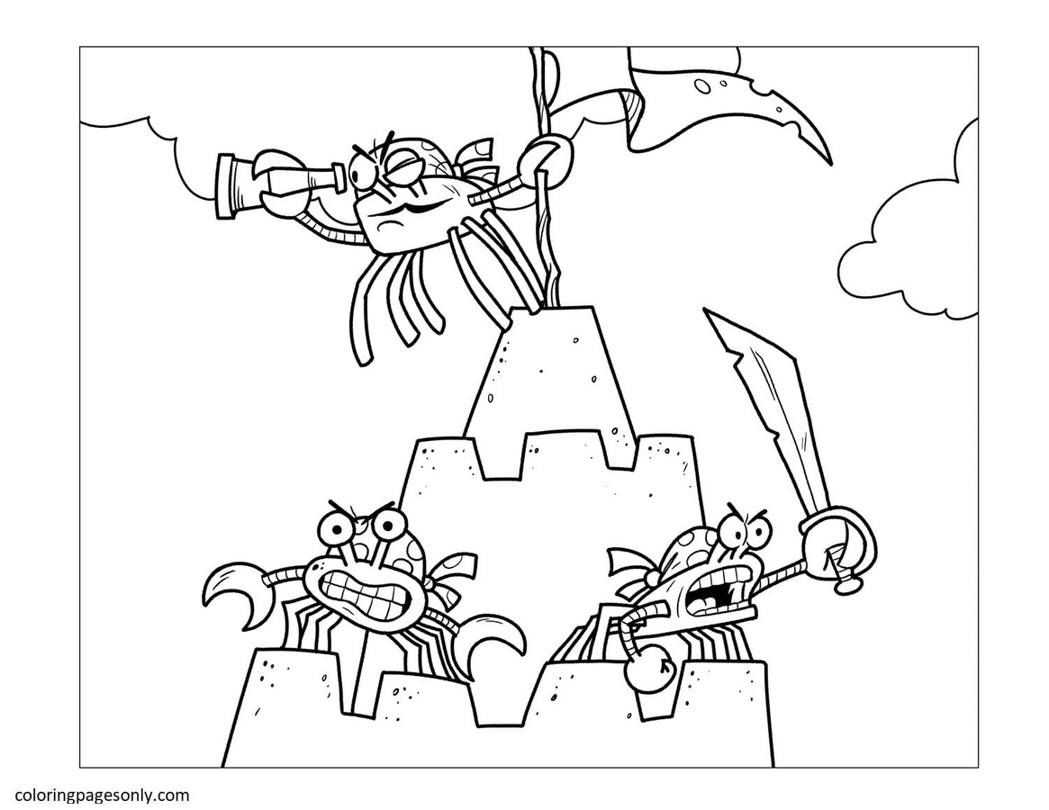 Crab 12 Coloring Page