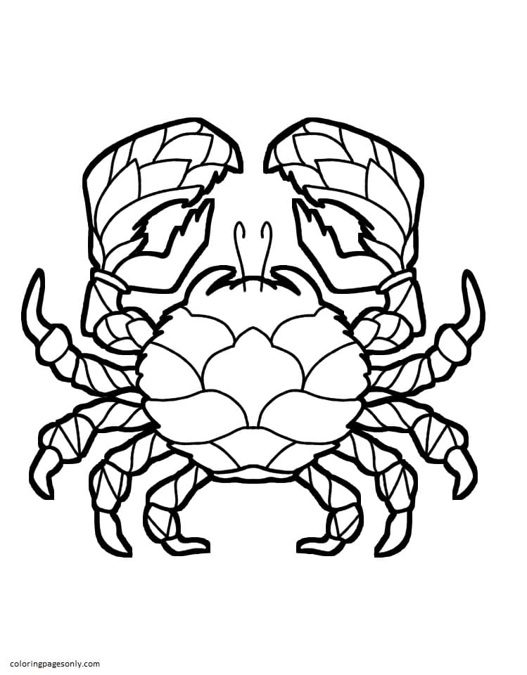 Crab 2 Coloring Page