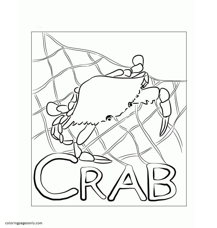 Crab 4 Coloring Page