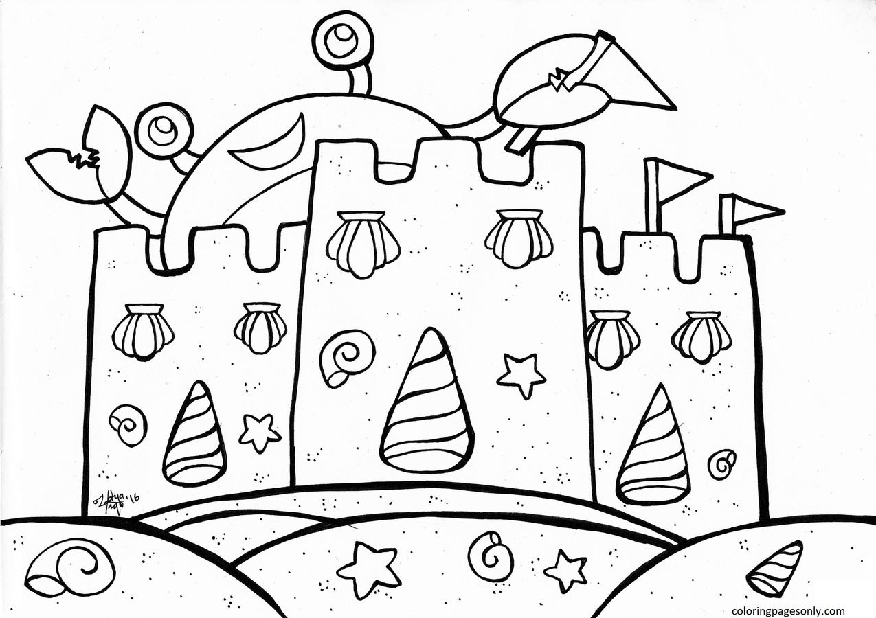 Crab 5 Coloring Page