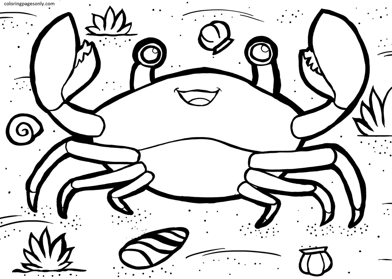 Crab 6 Coloring Page