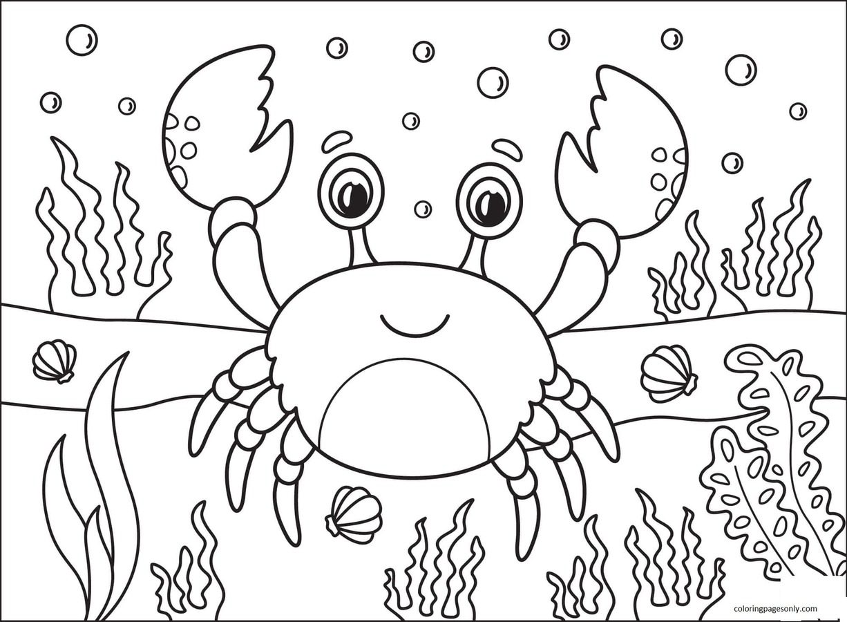 Crab 7 Coloring Page